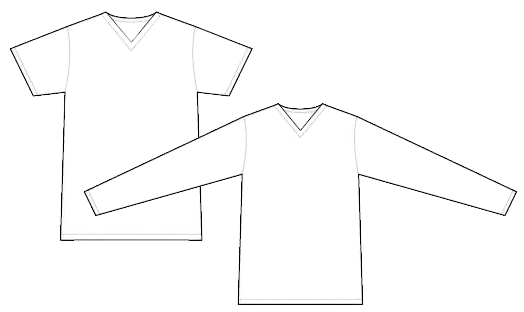 2678 short sleeve and long sleeve