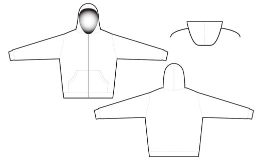 2805 full zip hoodie