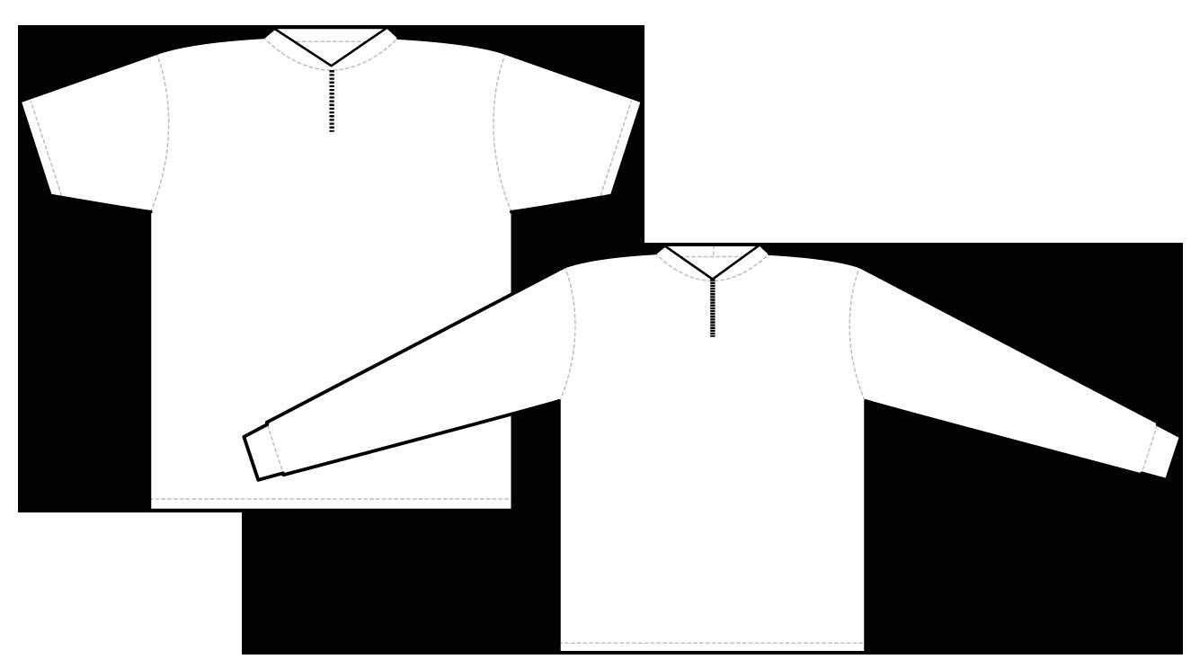 2951 short sleeve and long sleeve