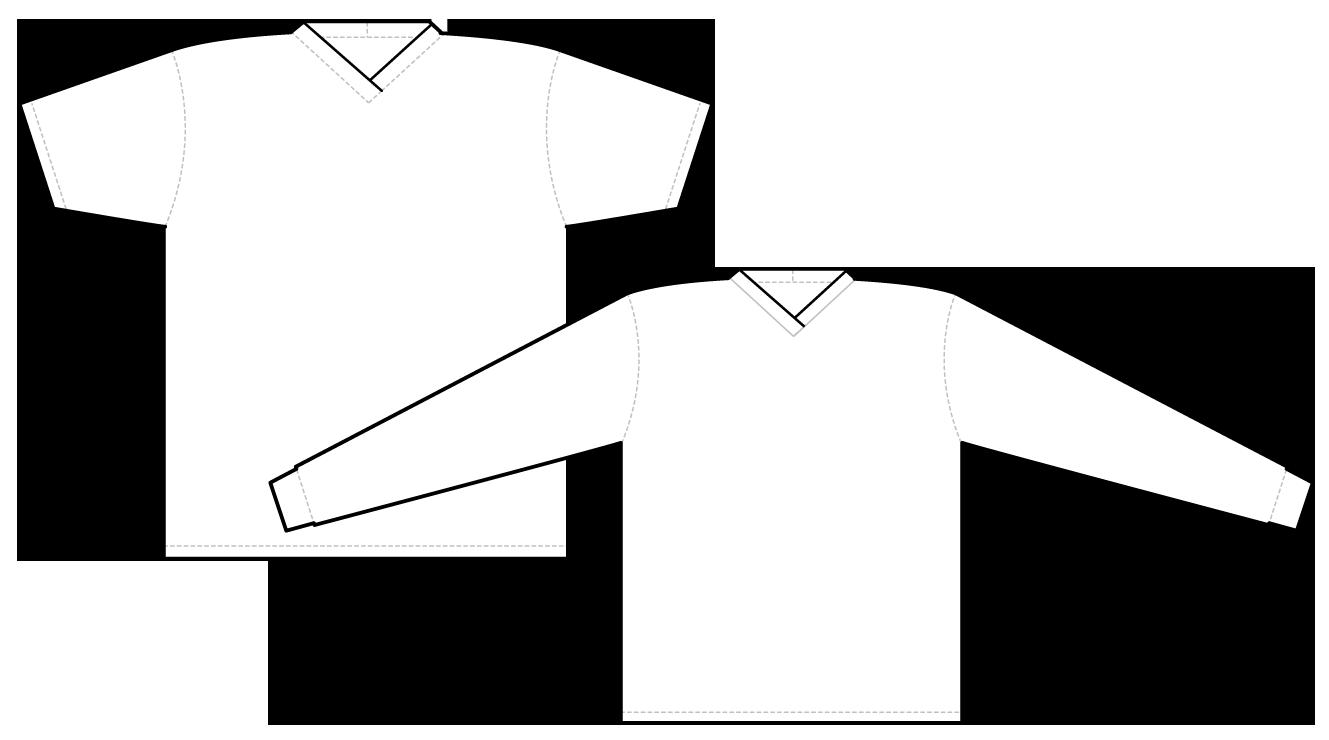 2953 short sleeve and long sleeve