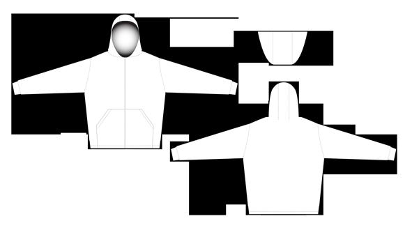 2959 Mens full zip hoodie