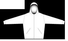 2984 Mens full zip hoodie